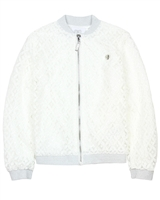 Le Chic Girls' Lace Cardigan