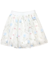 Le Chic Girls' Embroidered Tulle Skirt