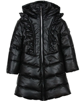 Le Chic Quilted Pleather Coat