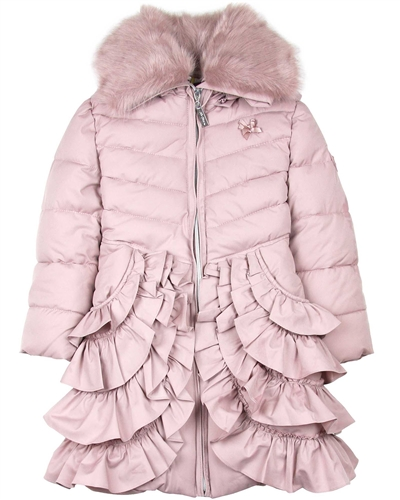 7e51879cf Le Chic Coat with Ruffles in Dusty Pink - Le Chic - Le Chic Fall ...