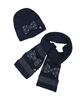 Le Chic Hat and Scarf Set in Navy