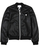 Le Chic Pleather Bomber Jacket