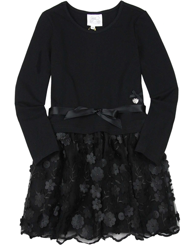 Le Chic Dress with Flower Applique Bottom