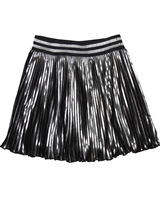 Le Chic Metallic Plisse Skirt
