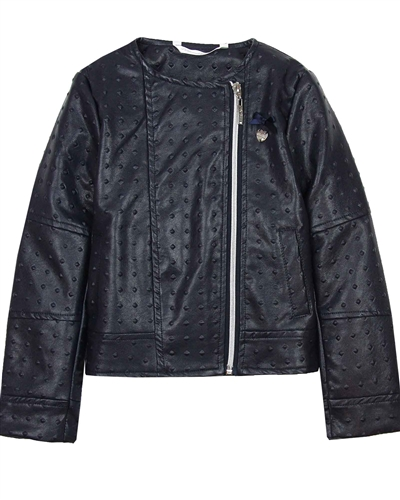 Le Chic Embossed Pleather Jacket