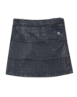 Le Chic Embossed Pleather Skirt