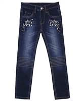 Le Chic Embellished Denim Pants