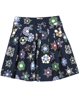 Le Chic Pleated Printed Skirt