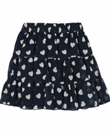 Le Chic Chiffon Skirt in Hearts Print
