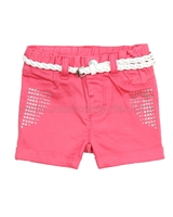 Le Chic Baby Girl's Shorts with Belt