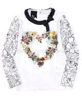 Love Made Love Top with Floral Print