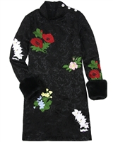 Love Made Love Embroidered Jacquard Dress