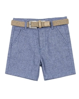 Losan Boys Linen Shorts with Belt