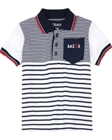 Losan Boys Nautical Striped Polo