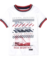 Losan Boys T-shirt with Striped Hems