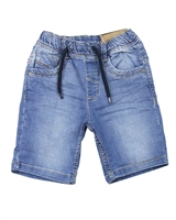 Losan Boys Basic Jogg Jean Shorts in Medium Blue