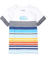 Losan Boys T-shirt with Striped Front