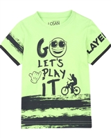 Losan Boys T-shirt with Distressed Stripes