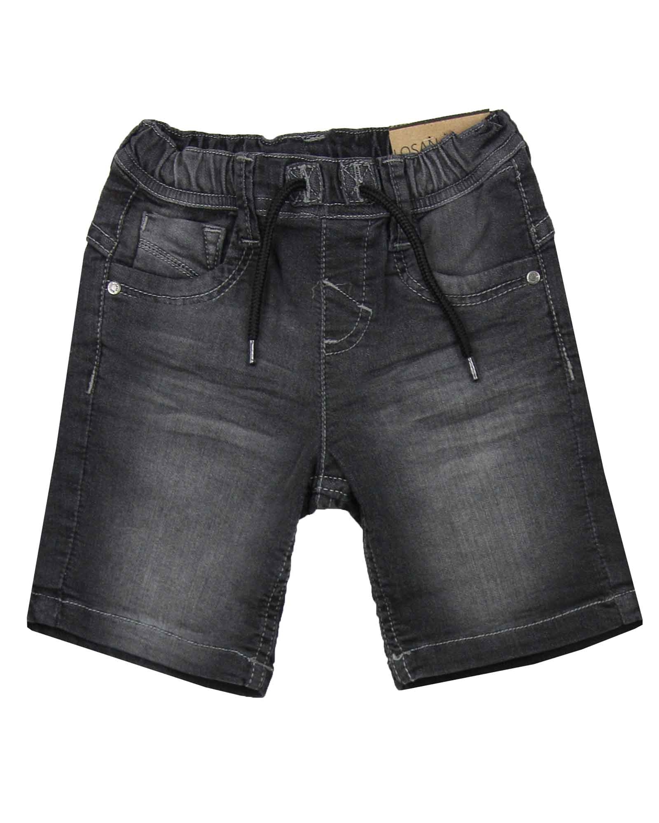 Losan Boys Jogg Jean Shorts with Striped Waistband Sizes 2-7