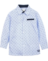 Losan Boys Striped Printed Dress Shirt