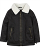 Losan Boys Pleather Jacket with Faux Shearling