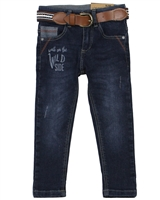 Losan Boys Slim Fit Denim Pants with Belt