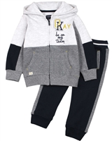 Losan Boys Combination Fabric Jogging Set