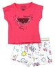 Losan Girls T-shirts and Printed Shorts Set