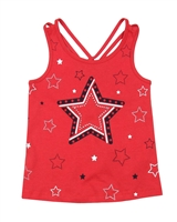 Losan Girls Top with Top with Star Print Front