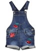 Losan Girls Denim Suspenders Shorts