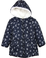 Losan Girls Coat in Snowflake Print