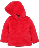 Losan Girls Hooded Faux Fur Coat
