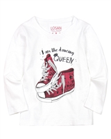 Losan Girls T-shirt with Sneakers Print