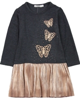 Losan Girls Butterflies Print Knit Dress with Tights