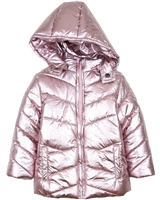 Losan Girls Metallic Puffer Coat with Hood