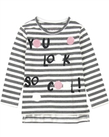 Losan Girls Striped T-shirt with Circles