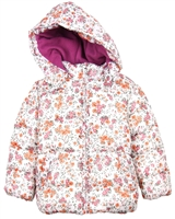 Losan Girls Puffer Coat in Floral Print