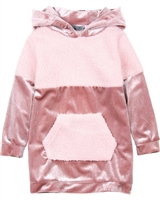 Losan Girls Hooded Velour Dress with Tights