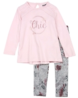 Losan Girls Tunic and Knit Leggings in Floral Print