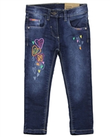 Losan Girls Jogg Jeans with Hearts Embroidery