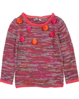 Losan Girls Reversed Knit Pullover