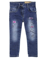 Losan Girls Denim Pants with Patches