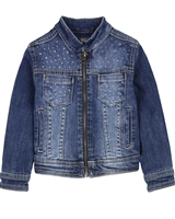 Losan Girls Denim Jacket with Crystals