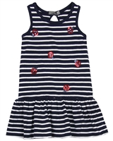 Losan Girls Striped Jersey Dress