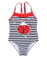 Losan Girls Striped Swimsuit