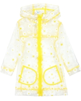 Losan Girls Transparent Raincoat in Daisies Print