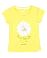 Losan Girls T-shirt with Daisy Applique