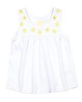 Losan Girls Tank Top with Daisy Applique