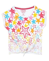 Losan Girls T-shirt with Star Print