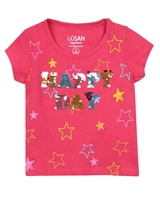 Losan Girls T-shirt with Sequins